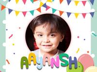 Aayansh Birthday