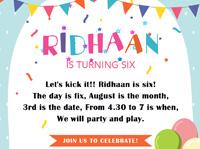 Ridhaan Birthday